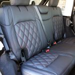 2020 jeep wrangler unlimited jl custom black & maroon leather rear seats