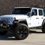 white 2019 jeep wrangler unlimited jl left front angle