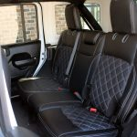 white 2019 jeep wrangler unlimited jl Custom pattern black leather rear seats with white stitching