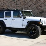 white 2019 jeep wrangler unlimited jl right front angle