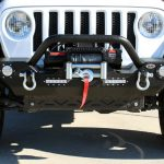 white 2019 jeep wrangler unlimited jl DV8 FS-7 front bumper FBSHTB-07 Rough Country 9,500lbs winch pro9500