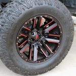 2020 gladiator jt 20×10 Moto Metal 978 Razor wheels in black with candy red accents 37x13.50R20 Milestar Patagonia M/T tires