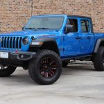 2020 gladiator jt blue rubicon left front angle