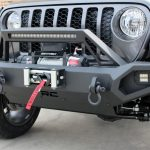 gray 2020 gladiator jt Rough Country winch mount front bumper 10585