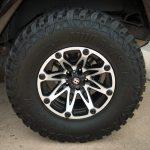rugged brown 2013 jeep wrangler unlimited jk 17x9 Ballistic 814 Jester 814790550+12FBM 35x12.50R17 Lexani Mud Beast MT tires