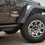 rugged brown 2013 jeep wrangler unlimited jk Smittybilt SRC Side Armor with steps