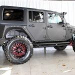 black kevlar 2014 jeep wrangler unlimited jk right side angle with doors