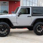 silver 2018 jeep wrangler jk left side angle