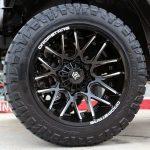silver 2018 jeep wrangler jk 22×12 Dropstars 654BM in gloss black milled 35x12.50R22 Nitto Ridge Grappler tires