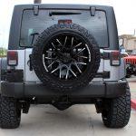silver 2018 jeep wrangler jk rear angle