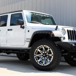 white 2015 jeep wrangler unlimited jk right front angle