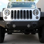 white 2015 jeep wrangler unlimited jk front angle