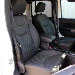 white 2015 jeep wrangler unlimited jk Custom black leather front seats