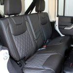white 2015 jeep wrangler unlimited jk Custom black leather rear seats