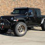 black 2020 jeep gladiator jt left front angle