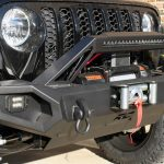 black 2020 jeep gladiator jt Rough Country winch mount front bumper 10585 Rough Country 9,500lbs winch pro9500