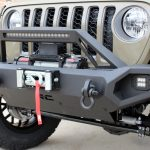 gator 2020 jeep gladiator jt Rough Country winch mount front bumper with LED lighting, over rider hoop & D-rings