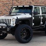 white 2018 jeep wrangler unlimited jk left front angle