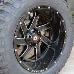 white 2018 jeep wrangler unlimited jk 22×12 Ballistic 961 Guillotine wheels gloss black milled 37x13.50R22 RBP Repulsor M/T