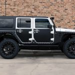 white 2018 jeep wrangler unlimited jk right side angle