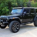 black 2014 jeep wrangler unlimited jk left front angle