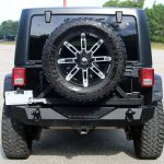 black 2014 jeep wrangler unlimited jk rear angle
