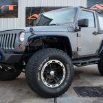 Gray Kevlar® 2010 jeep wrangler jk left front angle