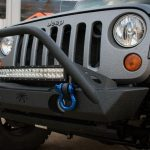 Gray Kevlar® 2010 jeep wrangler jk Poison Spyder front bumper 17-59-010-db DV8 20″ LED light bar B20CE120W3W