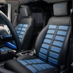 Gray Kevlar® 2010 jeep wrangler jk custom black leather seats with blue accents