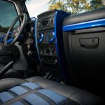 Gray Kevlar® 2010 jeep wrangler jk Rugged Ridge interior accent trim 11151.90 custom painted blue