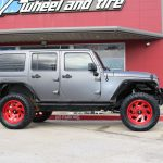 2016 Gray Wrapped JK Right Side Angle
