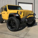 2020 Yellow Jeep Wrangler JL Right Front Angle