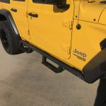 2020 Yellow Jeep Wrangler JL N-fab Epyx Side Steps
