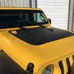 2020 Yellow Jeep Wrangler JL Hood Wrap