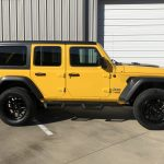 2020 Yellow Jeep Wrangler JL Right Side Angle