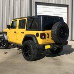 2020 Yellow Jeep Wrangler JL Left Rear Angle