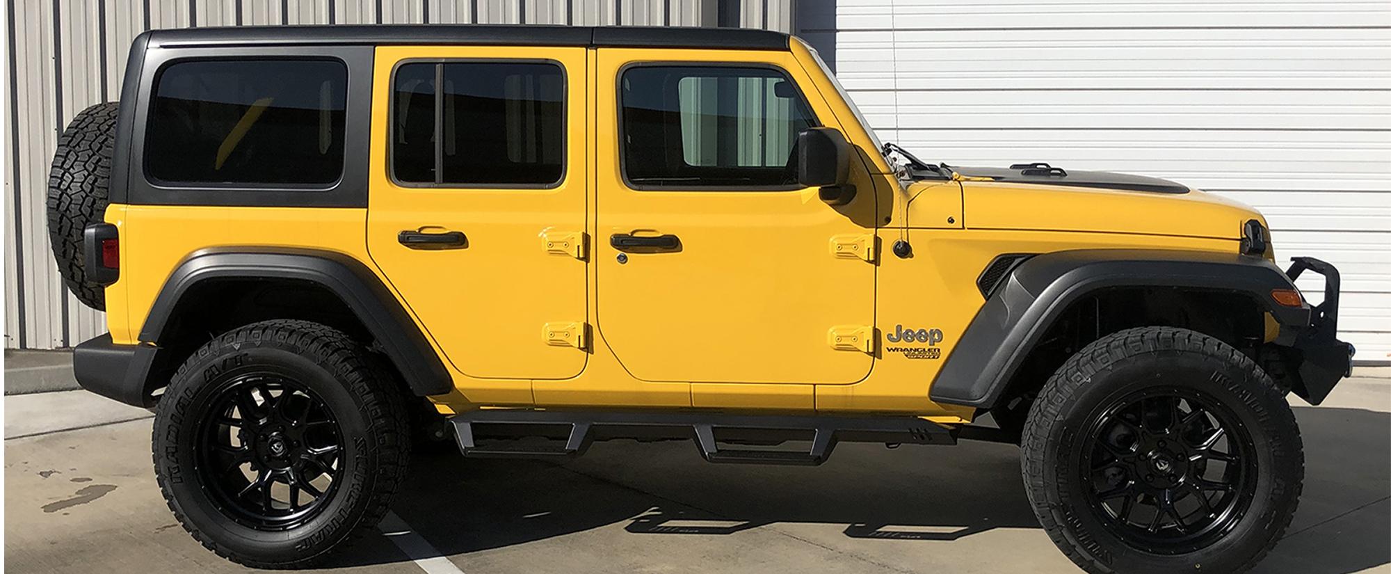 2020 Yellow Jeep Wrangler JL Hero