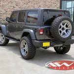 2020 Granite Gray JL Jeep left rear angle