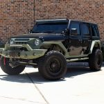 2020 Black and Green JL Jeep Left Front Angle