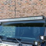 "2020 Black and Green JL Jeep Zroadz 50"" Light bar bracket with dual A-Pillar cube mounts Pro Maxx Automotive 50"" Light barr"