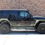 2020 Black and Green JL Jeep Right Side Angle