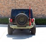 2020 Black and Green JL Jeep Rear Angle