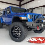 2020 Hydra Blue JT Gladiator 20×12 TIS 544 wheels gloss black machined face. 35x12.50R20 Venom Power Terra Hunter XT tires