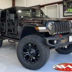 Black Rubicon JL Jeep 4″ Superlift kit with Fox Shocks 20 Fuel Off-Road D560 Vapor wheels matte black 37x13.50R20 tires