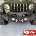 2020 Sarge Green JL Jeep Smittybilt XRC Gen 2 Front Bumper 10.000lbs Smittybilt X2O winch