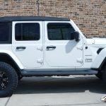 "2020 White Sport JL Jeep 2.5"" Lift Rough 18x9.5 Black Rhino ""Asagai"" Wheels Matte Black 35"" Nitto Ridge Grappler Tires"