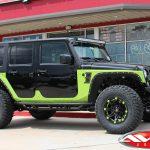 "2018 Sport JK Jeep 3″ Zone lift 17"" Ballistic 814 Jester wheels matte black custom painted accents 35"" mud tires"