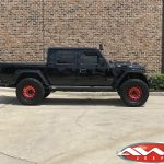 "2020 Rubicon JT Gladiator 3.5″ Lift Fox Shocks 20"" Fuel Off-road D632 ""Zephyr"" wheels red 38"" Toyo Open Country M/T tires"