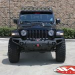 "2020 Black Rubicon JT Gladiator Rugged Ridge ""Venator"" winch mount front bumper 12,000lbs Warn winch"