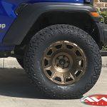 """2020-ocean-blue-sport-jl-jeep-build 3.5″ Skyjacker lift 20×10 Fuel """"Vengeance"""" Wheels in matte bronze 37"""" tires"""